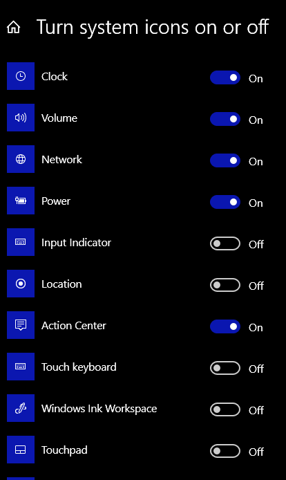 Turn System Icons On or Off - Windows 10 Basics Tip Cloudeight