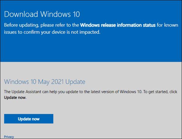 Windows 10 21H1 - Cloudeight InfoAve