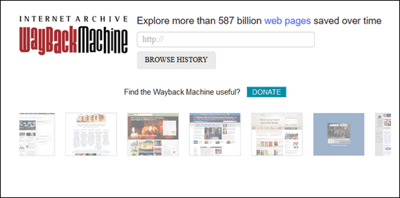 Cloudeight Site Pick - Internet Archive's Wayback Machine
