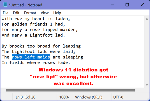 Windows 10 Tips by Cloudeight - Dictation in Windows 10