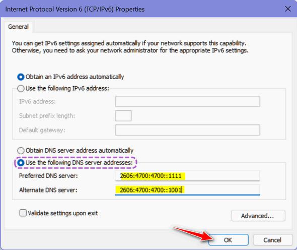 Windows 11 DNS - Cloudeight