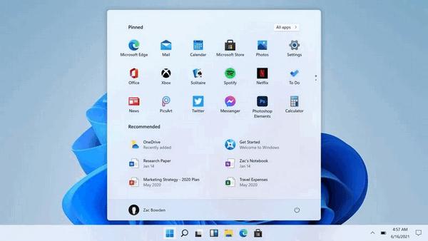 Windows 11 Centered Start Menu