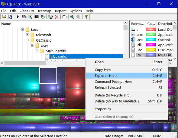 WinDirStat - a colorful free drive treemapper - Cloudeight Freeware Pick