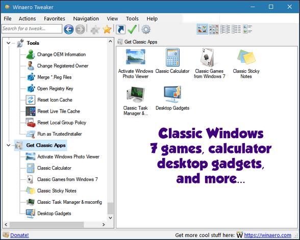 WinAero Tweaker - Cloudeight Freeware Pick