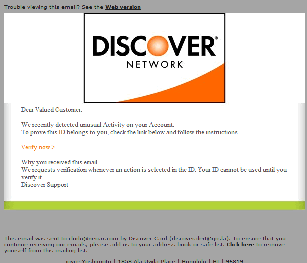 Discover a phishing scam – Cloudeight InfoAve